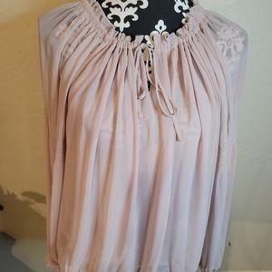 5 for $25💎Express Pale Soft Pink Blouse Sz L
